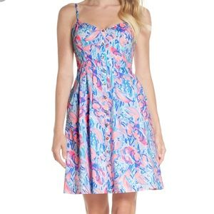 Lilly Pulitzer Easton Dress Cosmic Coral